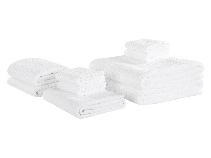 Komplet 9 ręczników biały bawełna zero twist ręczniki dla gości do rąk kąpielowy i mata łazienkowa Ręcznik do rąk Komplet ręczników Ręcznik kąpielowy