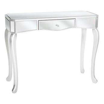 Konsola srebrna ozdobna art deco efekt lustra salon sypialnia przedpokój