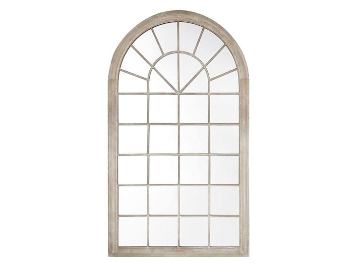 Lustro ścienne wiszące beżowe 76 x 130 cm w kształcie łukowego okna styl vintage Nieregularne Styl Klasyczny Lustro z ramą Kolor Beżowy