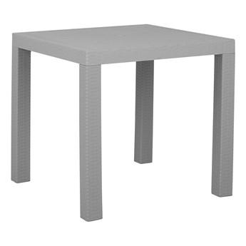Stół ogrodowy jasnoszary kwadratowy 80 x 80 cm na taras dla 4 osób