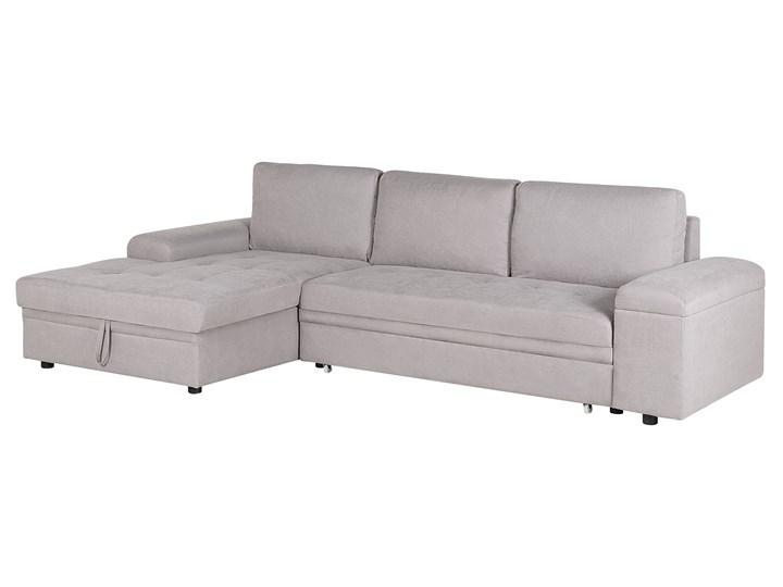 Narożnik rozkładany jasnoszary sofa narożna do salonu kanapa z funkcją spania z pojemnikiem skandynawska W kształcie L Funkcje Z pojemnikiem na pościel