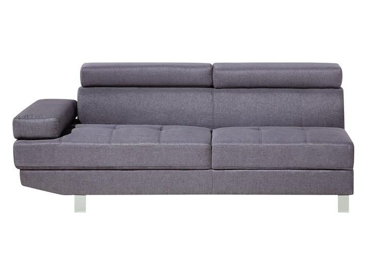 Narożnik lewostronny szary tapicerowany 5 osobowa sofa z regulowanymi zagłówkami W kształcie L Rozkładanie