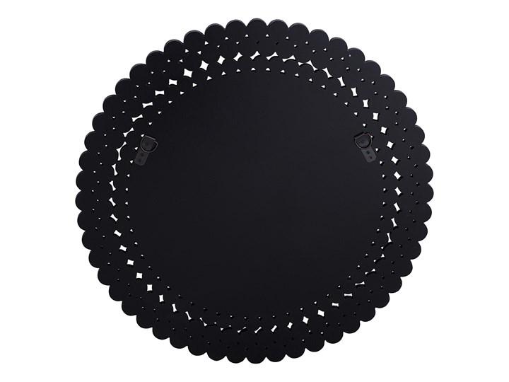 Lustro wiszące ścienne srebrne okrągłe 70 cm dekoracyjne Lustro bez ramy Kategoria Lustra