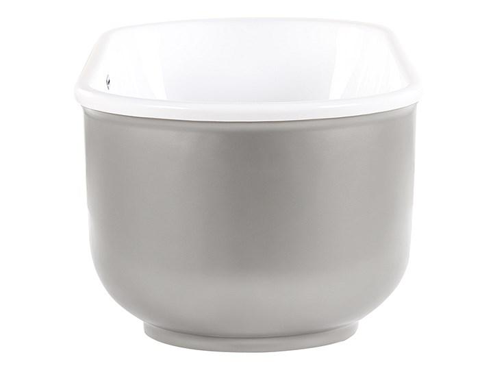 Wanna wolnostojąca srebrna akrylowa owalna nowoczesna minimalistyczna Retro Wolnostojące Kolor Srebrny Kategoria Wanny