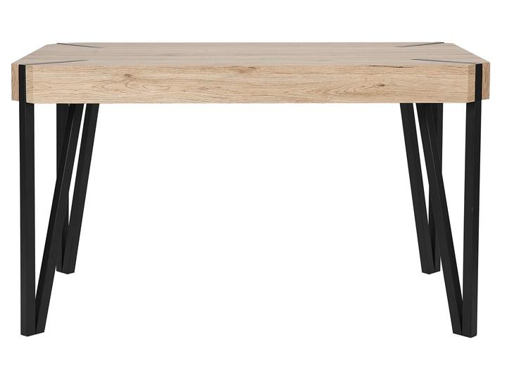 Stół do jadalni jasne drewno czarne metalowe nogi 130 x 90 cm prostokątny styl industrialny Płyta MDF Długość 130 cm  Pomieszczenie Stoły do kuchni