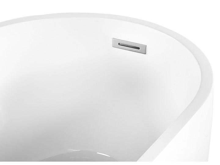 Wanna wolnostojąca biała akrylowa 170 x 78 cm system przelewowy owalna współczesna Wolnostojące Kolor Biały Kategoria Wanny