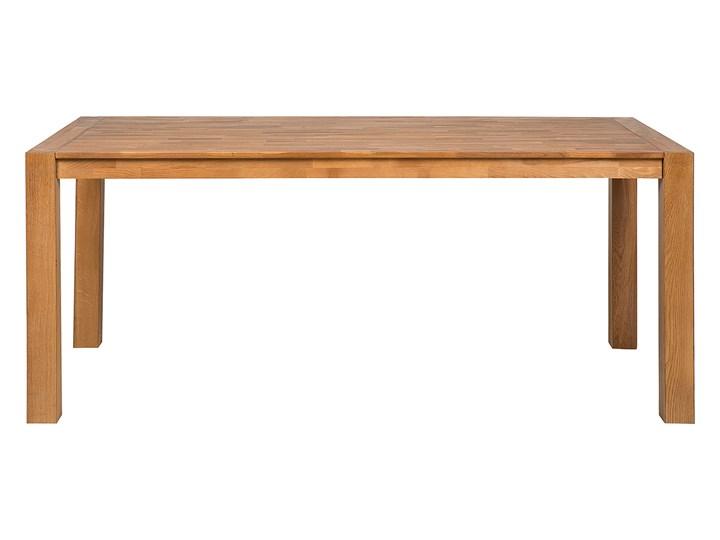 Stół do jadalni jasnobrązowy drewniany dębowy prostokątny 150 x 85 cm minimalistyczny Długość 150 cm  Rozkładanie Drewno Pomieszczenie Stoły do jadalni