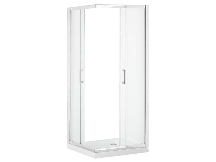 Kabina prysznicowa srebrna szkło hartowane aluminum podwójne drzwi 80x90x185cm nowoczesny design Kwadratowa Kategoria Kabiny prysznicowe