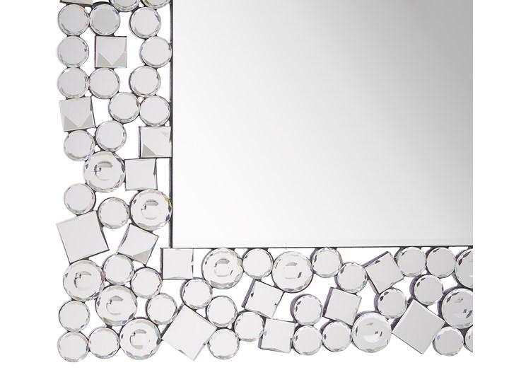 Lustro ścienne srebrne 60 x 90 cm prostokątne wiszące dekoracyjna rama styl glamour Pomieszczenie Przedpokój Lustro z ramą Pomieszczenie Sypialnia