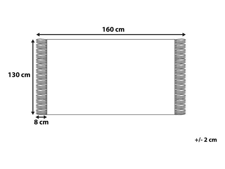 Koc czarny bawełniany 130 x 160 cm jodełka z frędzlami narzuta styl boho 130x160 cm Bawełna Pomieszczenie