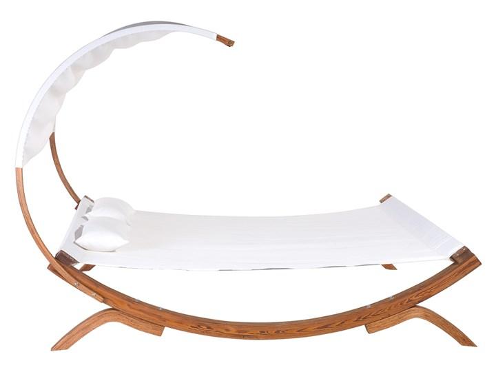 Leżak ogrodowy biały drewno modrzewiowe 2-osobowy zadaszony nowoczesny Kategoria Leżaki ogrodowe