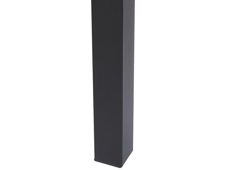 Stół do jadalni czarny 140/190 x 90 cm tradycyjnie rozkładany blat 6 osobowy industrialny Stal Długość 140 cm  Płyta MDF Metal Styl Nowoczesny