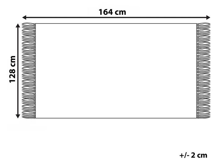 Koc beżowy bawełna z frędzlami prostokątny 128 x 164 cm narzuta na łóżko dekoracja Akryl 128x164 cm Pomieszczenie Salon Kategoria Koce i pledy