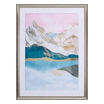 Obraz w ramie wielkolorowy wydruk na papierze 60 x 80 cm abstrakcja dekoracja ścienna