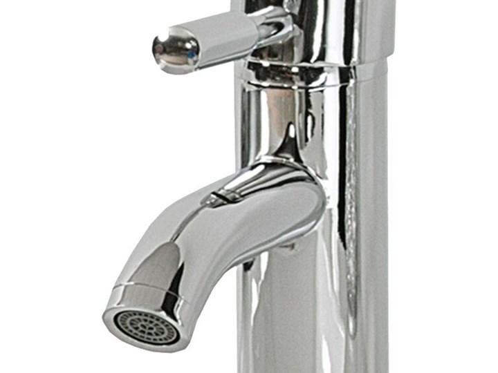 Bateria łazienkowa srebrna metal chromowany do umywalki nowoczesna Wykończenie Mosiądz Bateria umywalkowa Kolor Srebrny