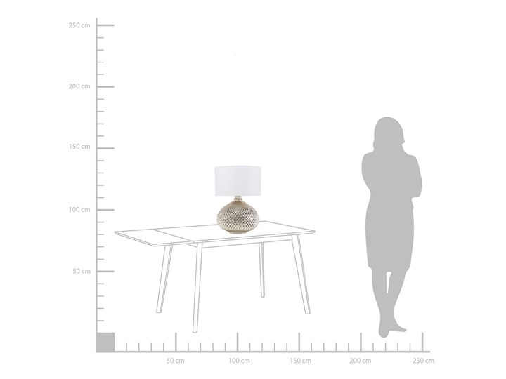 Lampa stołowa złota biała 55 cm szklana podstawa wysoki połysk glamour Lampa nocna Lampa z abażurem Kolor Złoty