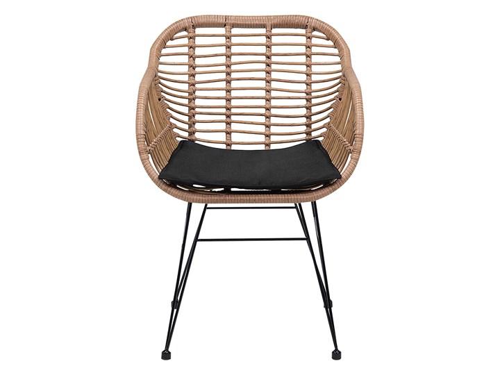 Zestaw balkonowy brązowy rattanowy 2 krzesła 1 stół ze szklanym blatem nowoczesny Stoły z krzesłami Zawartość zestawu Stolik Stal Technorattan Kategoria Zestawy mebli ogrodowych