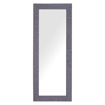 Lustro ścienne wiszące szare z liliowym 50 x 130 cm efekt kamienia