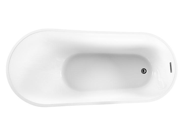 Wanna wolnostojąca biała akrylowa 170 x 78 cm system przelewowy owalna współczesna Wolnostojące Kolor Biały