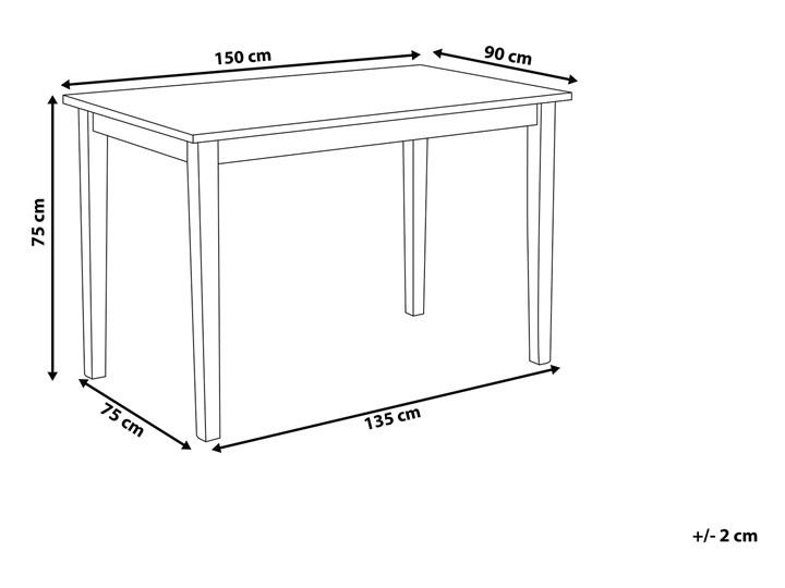 Stół do jadalni jasne drewno z czarnym 150 x 90 cm prostokątny styl skandynawski Długość 150 cm  Kategoria Stoły kuchenne