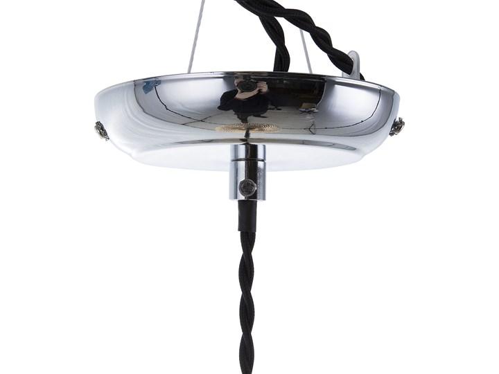 Lampa sufitowa złota 88 cm szklany klosz wysoki połysk glamour Lampa z kloszem Stal Metal Lampa inspirowana Szkło Styl Nowoczesny