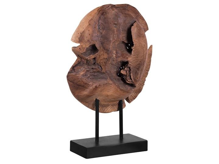 Figurka dekoracyjna ryba jasne drewno tekowe 41 x 31 cm styl rustykalny Zwierzęta Rośliny Ryby Kategoria Figury i rzeźby Kolor Brązowy