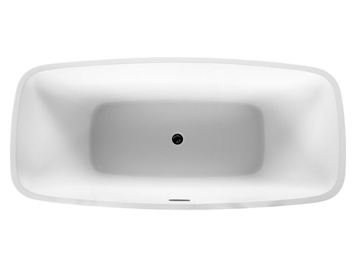 Wanna wolnostojąca biała akrylowa 170 x 78 cm nowoczesny wygląd Długość 170 cm Wolnostojące Symetryczne Kolor Biały Owalna Kategoria Wanny