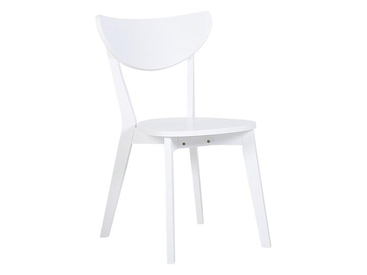 Zestaw do jadalni biały płyta MDF okrągły stół z 4 krzesłami komplet mebli kuchennych Pomieszczenie Salon Pomieszczenie Jadalnia