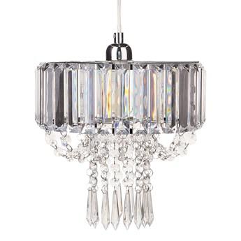 Żyrandol przezroczysty kryształowy 83 cm kryształy rozpraszające światło chromowany akcent glamour