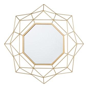 Lustro ścienne wiszące złote geometryczne 60 cm vintage Gatsby glamour