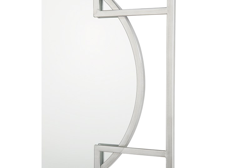 Lustro ścienne wiszące srebrne 71 x 71 cm nowoczesne łazienka salon Okrągłe Lustro z ramą Styl Vintage