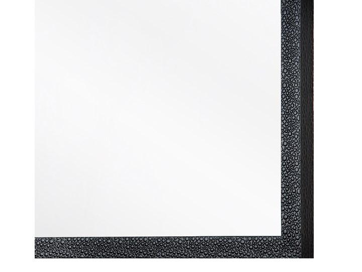 Lustro ścienne wiszące czarne 60 x 90 cm dekoracyjne Kolor Czarny Lustro z ramą Prostokątne Pomieszczenie Sypialnia
