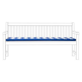 Poducha na ławkę ogrodową niebieska zygzag 169 x 50 cm balkon taras ogród