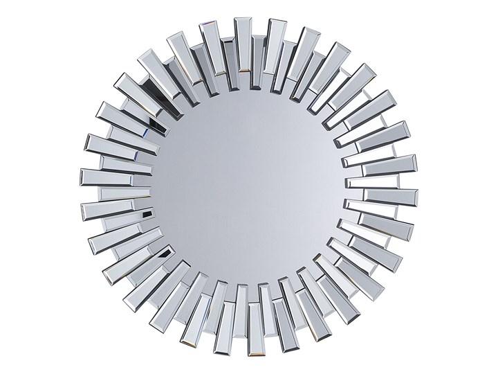 Lustro srebrne okrągłe słońce kształt nowoczesne salon przedpokój
