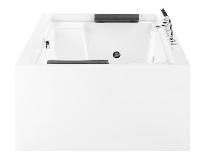 Wanna wolnostojąca biała akrylowa 180 x 110 cm dwuosobowa nowoczesna Wolnostojące Kolor Biały