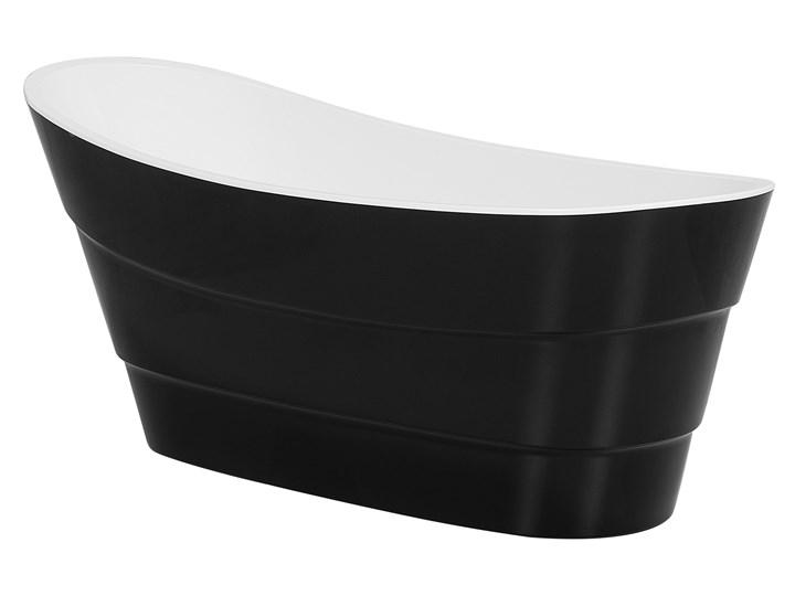 Wanna wolnostojąca czarna akrylowa 170 x 73 cm owalna Wolnostojące Kolor Czarny