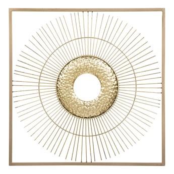 Dekoracja ścienna złota słońce metalowa ozdoba styl glam