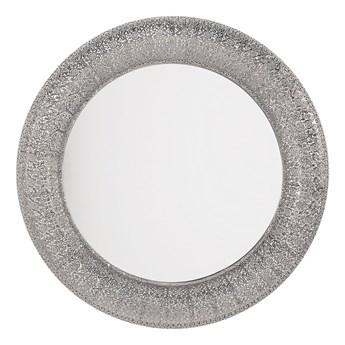 Lustro wiszące ścienne srebrne 80 cm