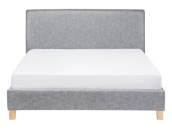 Łóżko szare tapicerowane 160 x 200 cm dwuosobowe ze stelażem i zagłówkiem styl skandynawski Kategoria Łóżka do sypialni Łóżko tapicerowane Kolor Szary