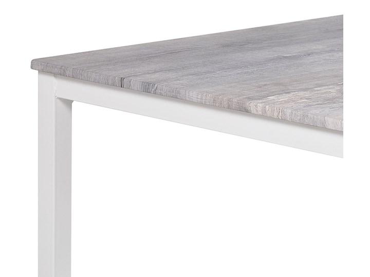 Zestaw do jadalni stół 110 x 70 cm i 4 krzesła szary z białą stalową ramą styl nowoczesny Pomieszczenie Jadalnia
