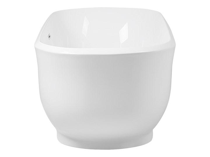Wanna wolnostojąca biała akrylowa 170 x 77 cm system przelewowy owalna współczesna Wolnostojące Długość 170 cm Kolor Biały