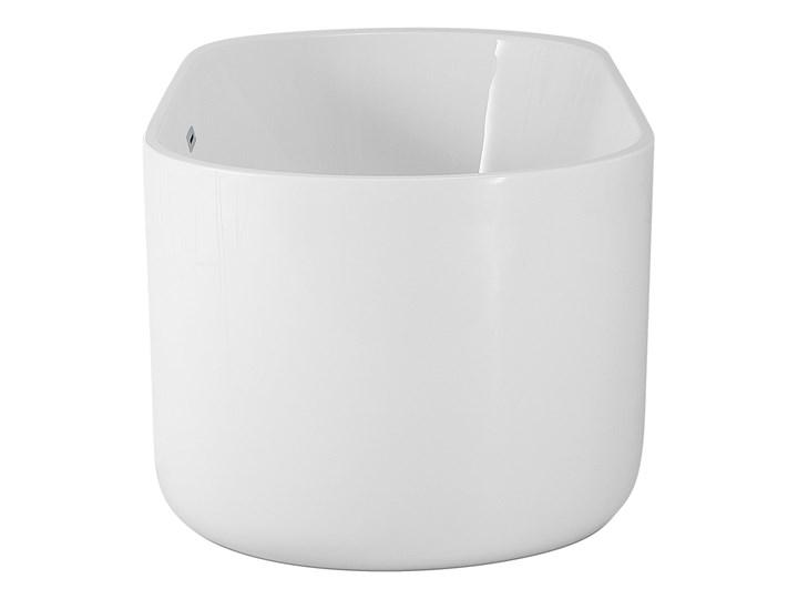 Wanna wolnostojąca biała akrylowa 170 x 80 cm system przelewowy owalna współczesna Długość 170 cm Wolnostojące Kolor Biały