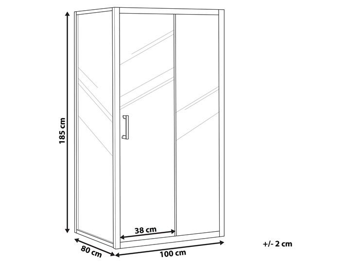 Kabina prysznicowa srebrna szkło hartowane aluminum pojedyncze drzwi 80x100x185cm nowoczesny design Kategoria Kabiny prysznicowe Rodzaj drzwi Rozsuwane