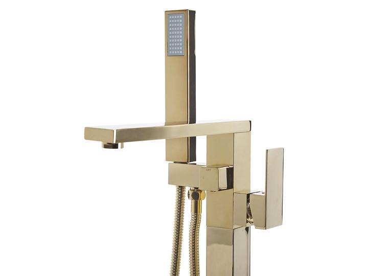 Bateria wannowa złota wolnostojąca 120 cm nowoczesna Bateria stojąca Bateria prysznicowa Kolor Złoty