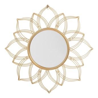Lustro ścienne wiszące złote 67 cm kwiat płatki mandala nowoczesne vintage glamour