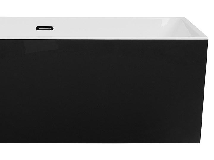 Wanna wolnostojąca czarna akrylowa 170 x 76 cm prostokątna Wolnostojące Kolor Czarny Symetryczne Kategoria Wanny