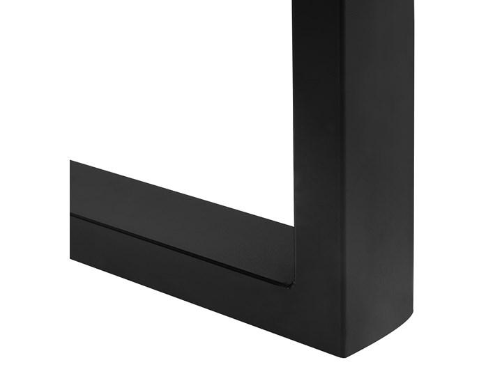 Stół do jadalni drewniany blat nieregularny czarne metalowe nogi 180 x 94 cm styl industrialny Drewno Pomieszczenie Stoły do jadalni Długość 180 cm  Styl Nowoczesny