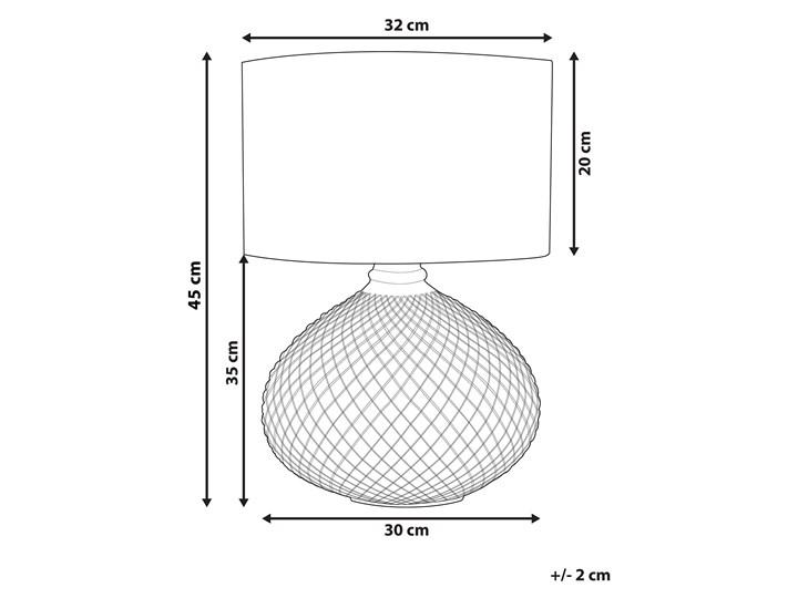 Lampa stołowa złota biała 55 cm szklana podstawa wysoki połysk glamour Lampa nocna Lampa z abażurem Kolor Biały