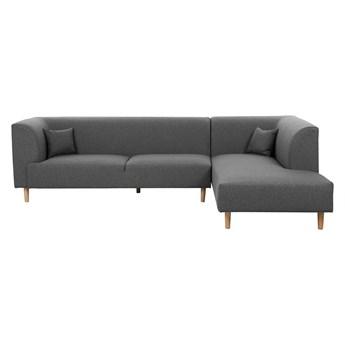 Narożnik lewostronny ciemnoszary 4 osobowy sofa nowoczesna styl skandynawski