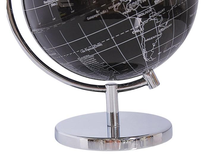 Globus czarny materiał syntetyczny średnica 15 cm na biurko ozdobny dekoracyjny Globusy Metal Kategoria Figury i rzeźby